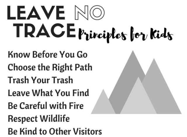how to teach leave no trace principles for kids